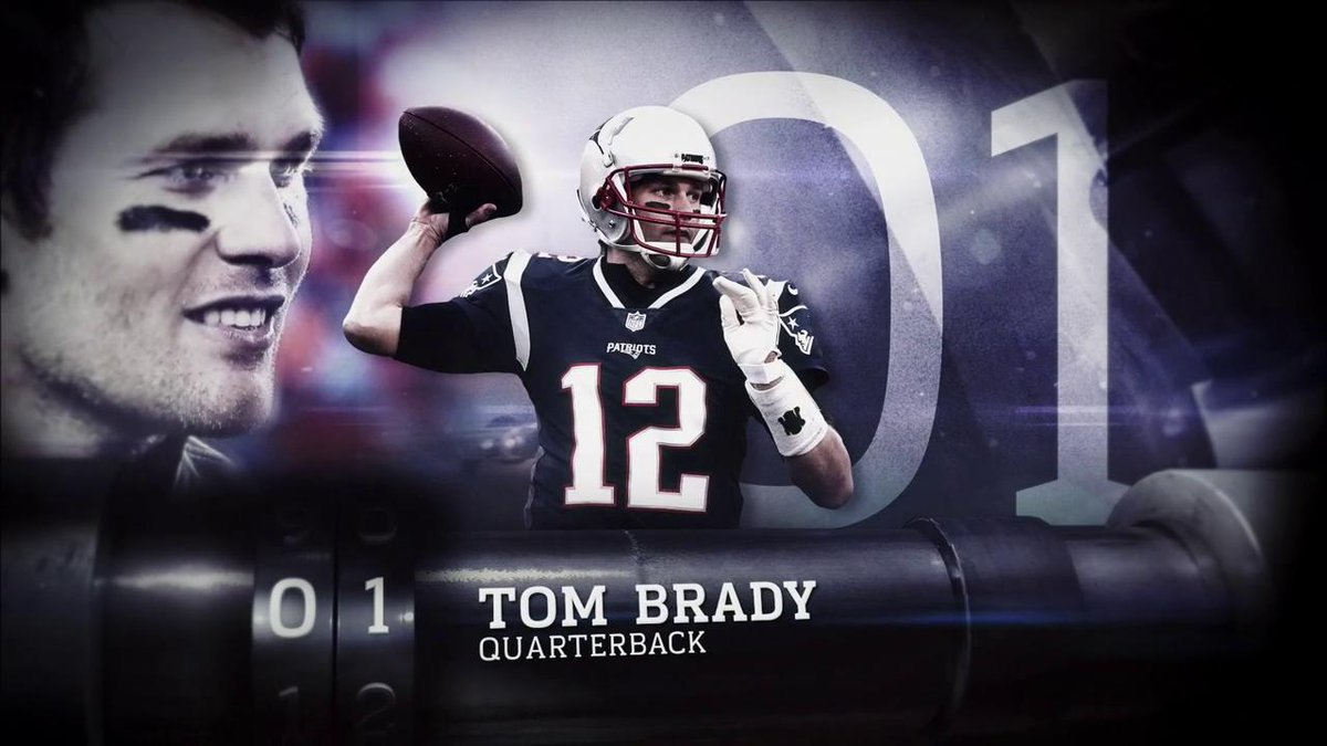 RT @Patriots: No. 1 in the record books. No. 1 in our hearts. No. 1 in the #NFLTop100. https://t.co/ePNKlI2CMI
