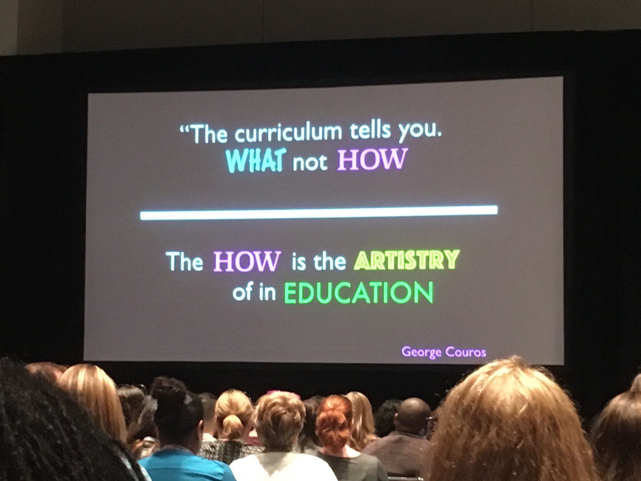 """The curriculum tells you what not how. The how is the artistry of in education."" - George Couros. Thanks Marcia Kish @dsdPD for awesome #ISTE18 session on how of blended learning https://t.co/hCSxz9GuOh"