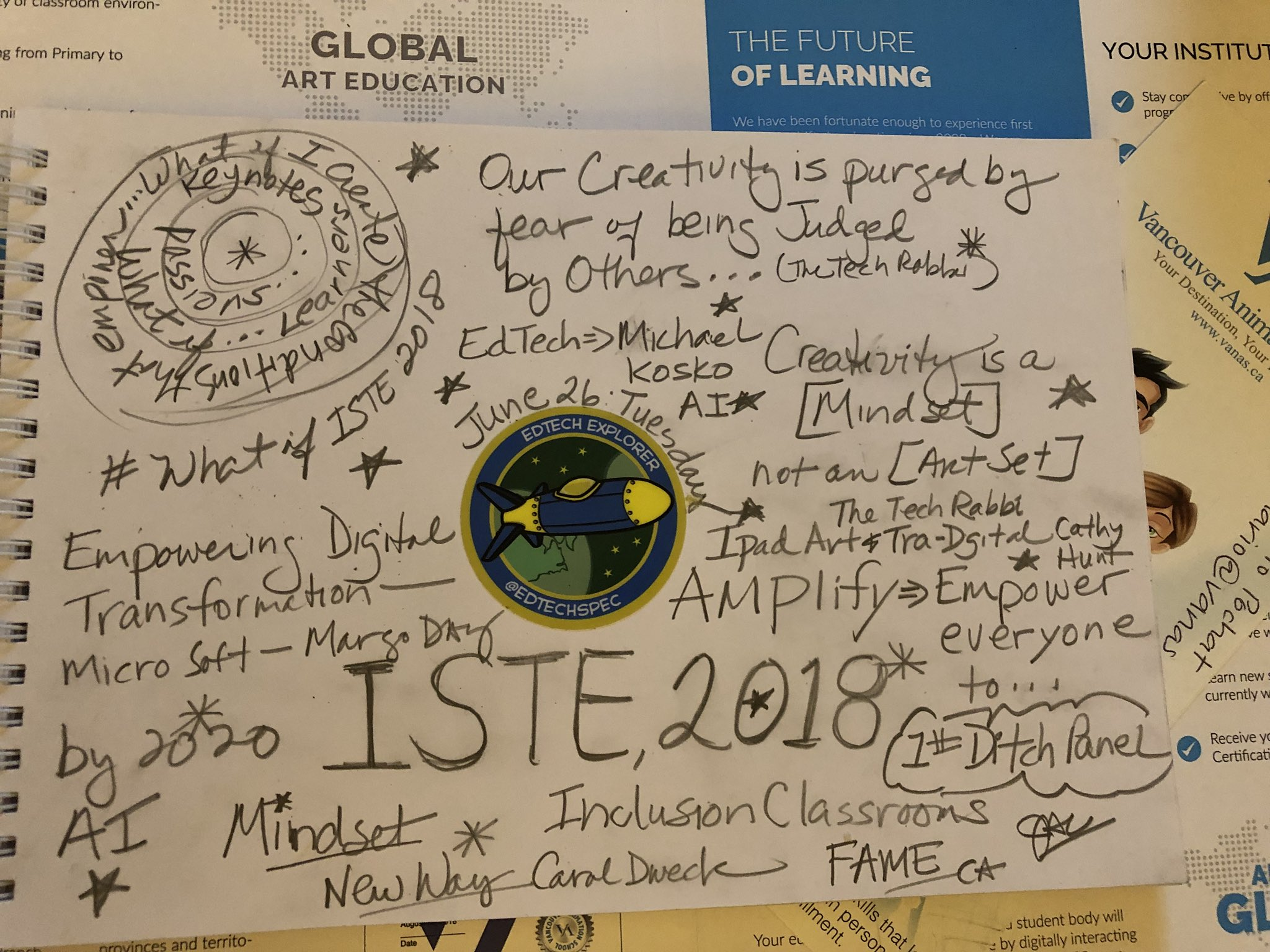 Reflection of MY ISTE DAY2 : June 26, Tuesday #ISTE2018 https://t.co/HKckPh8ovE