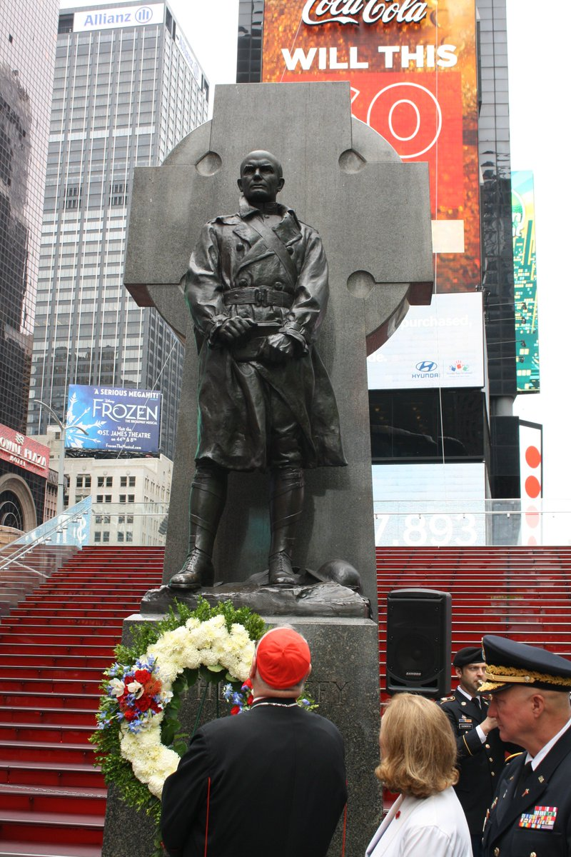test Twitter Media - Proud to take part in a ceremony honoring Fr. Francis Duffy, famous World War I Chaplain and Archdiocese of New York priest in Duffy Square right in the heart of #NYC 's Times Square this morning @ChaplainDuffy @ArmyChaplains https://t.co/K1xnGvnJwY