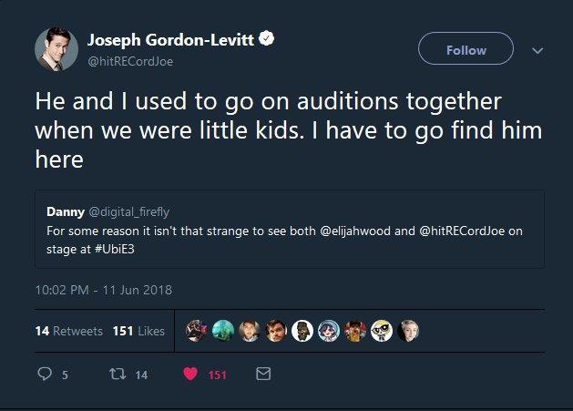 RT @digital_firefly: Hey it happened! ???? Video games bringing people together @hitRECordJoe @elijahwood https://t.co/m5jeIuwOv6