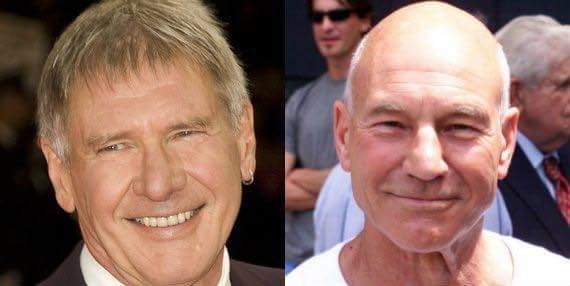 Happy Birthday to these two legends Harrison Ford and Patrick Stewart