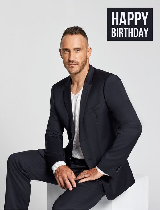 Happy Birthday Faf Du Plessis.  GQ