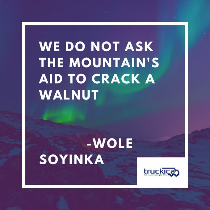 It\s only fitting to begin the day with a quote from Prof. Wole Soyinka. Happy 84th birthday to him!
