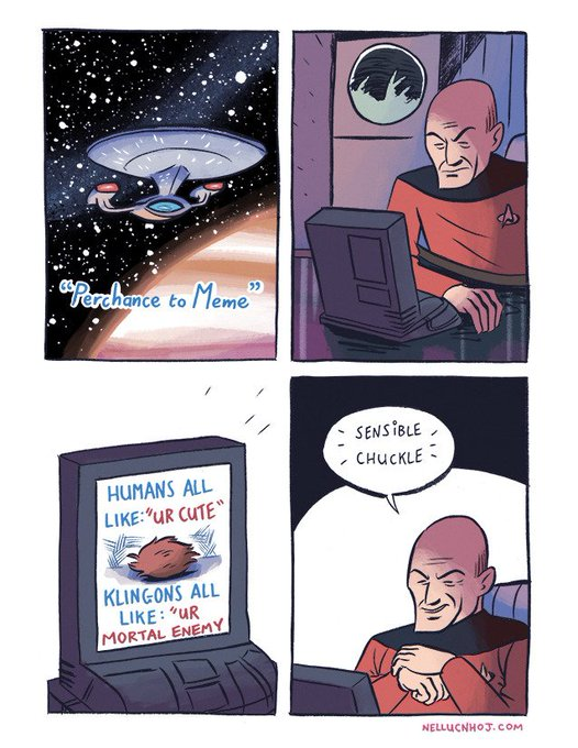 Happy birthday to Best Space Dad, Patrick Stewart!  Here\s a comic I did a while back.