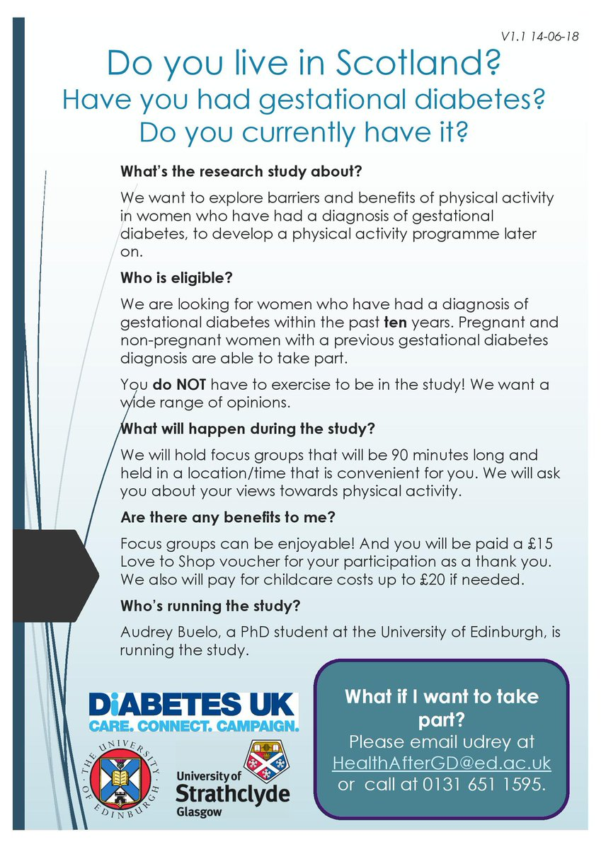 test Twitter Media - Do you live in Scotland? Do you have or have you had #gestationaldiabetes Could you help with this study? #GDUKMums #diabetesscotland #diabetesinpregnancy https://t.co/2AxvjHDfi9