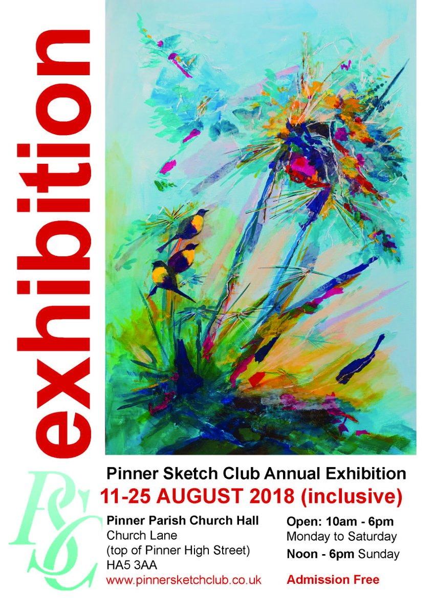 test Twitter Media - Pinner Sketch Club Summer Exhibition 11-25 August in the Pinner Parish Church Hall.... more than 200 paintings, alongside sculpture and ceramics. Admission free. www.pinnersketch https://t.co/7EcuhEc86x https://t.co/EBcDgO68Nh
