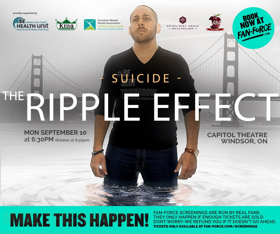 test Twitter Media - Purchase your tickets today! One Night Screening on World Suicide Prevention day September 10th 2018 hosted by the Windsor-Essex Suicide Prevention Coalition.  https://t.co/36DsfWbB9f @TheWECHU @BANAWindsor @HDGHWindsor #SuicidePrevention https://t.co/fyhEIzFL8V https://t.co/ut0zwrLDC5