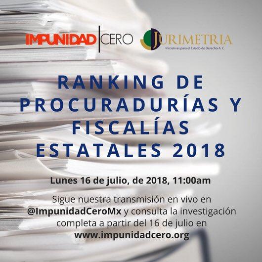 Los invitamos a seguir la presentación del Índice de Desempeño de las Procuradurías de Justicia en Mexico. Abrazo fuerte para todos. https://t.co/GwyO7xb86J