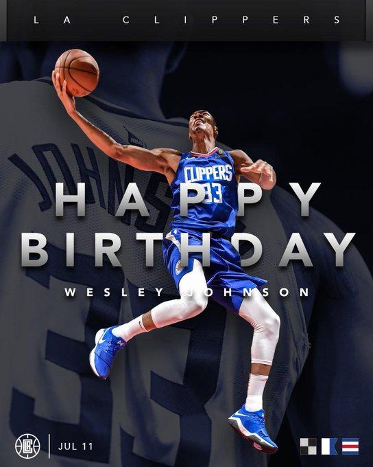 To wish Wesley Johnson a Happy Birthday!