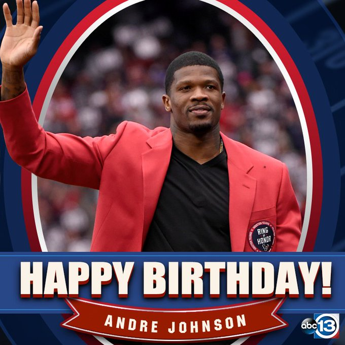 Happy Birthday,# 8  0  , aka THE GOAT Andre Johnson!