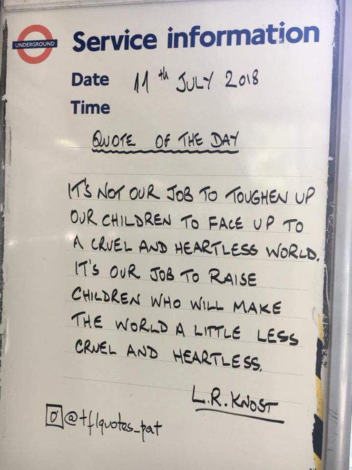 RT @KIsobelle: Finchley Central Tube station today. https://t.co/R3bnFzc6NG