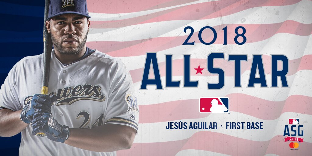 Halle-Brew-Jah! We did it!  @JAguilarMKE is going to the @AllStarGame!   #WeBelieveinJesús https://t.co/xNF6QFHrDO