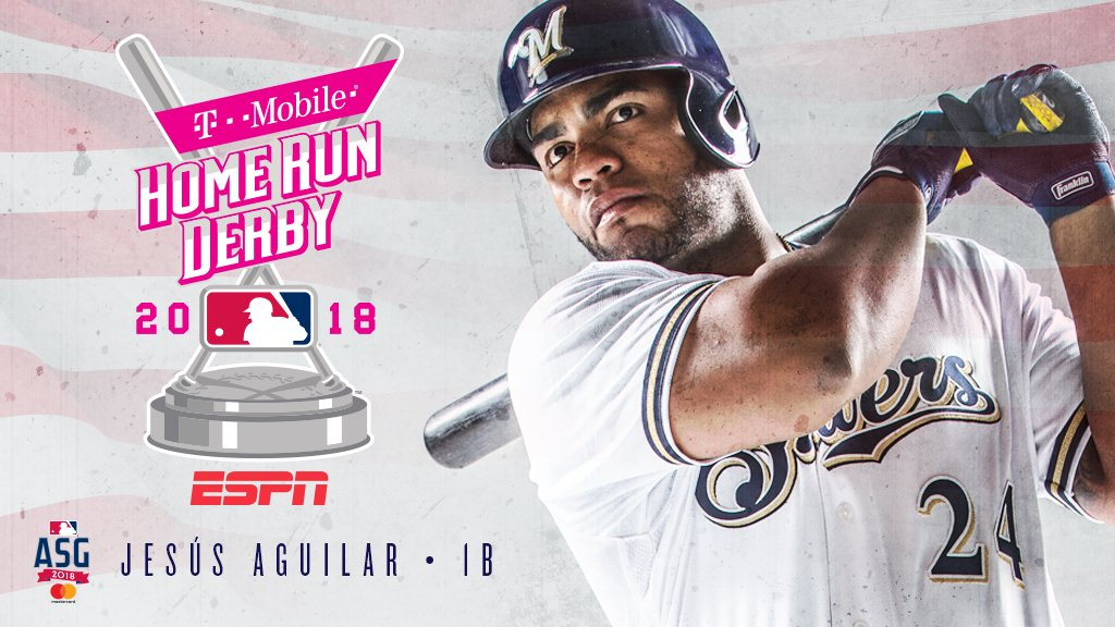 First All-Star Selection? ✅ First HR Derby? ✅  Have a day, @JAguilarMKE!  #WeBelieveInJesús  https://t.co/nvvSxmY0RN https://t.co/krLeZjE19h