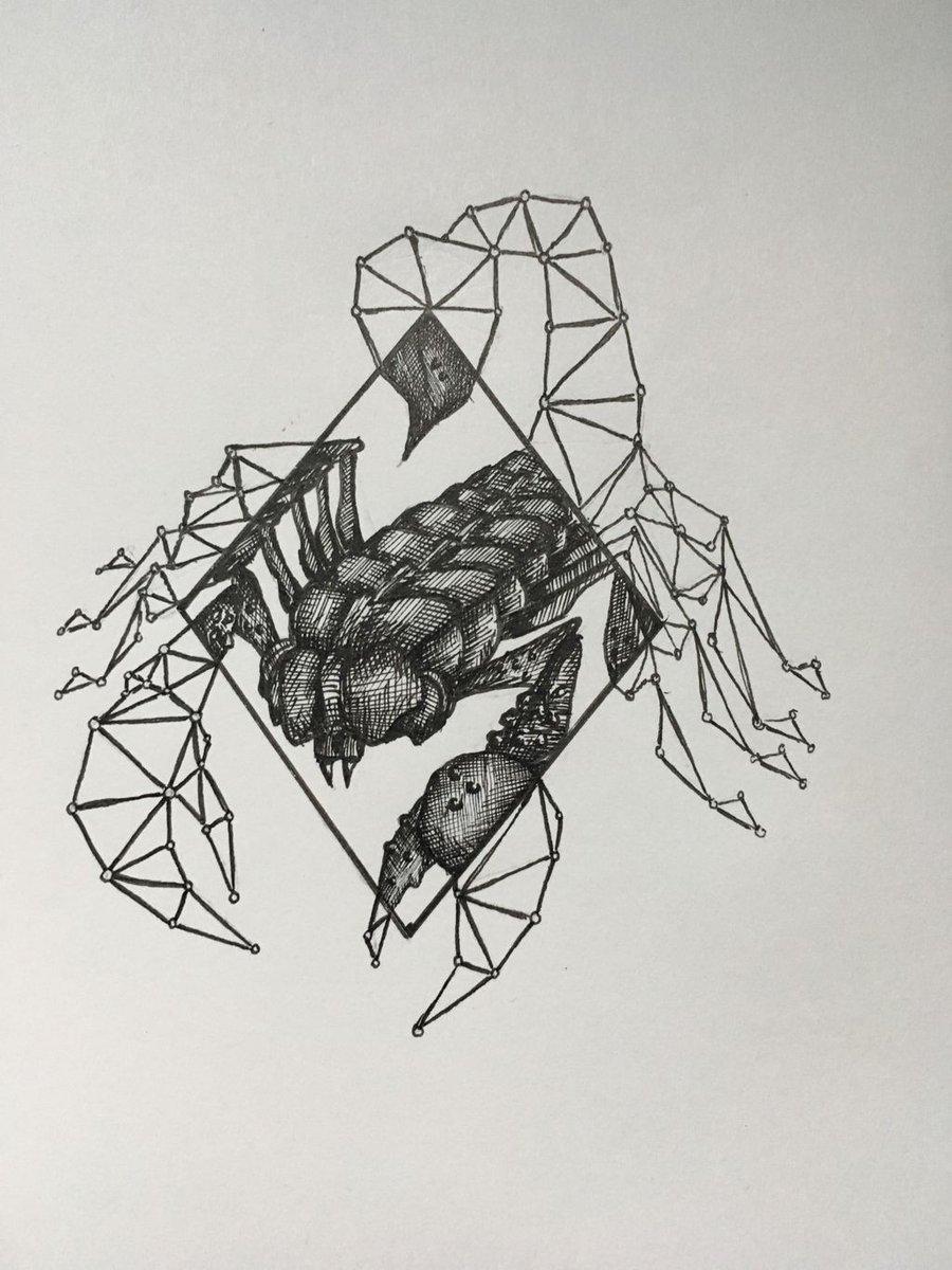 Cool way to draw a scorpion.. https://t.co/wgchXQ1tA0 https://t.co/JxWYyKmFi7