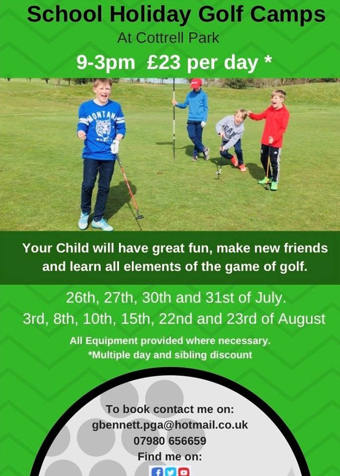 test Twitter Media - Summer Camp for your Mini Golfers  Our Golf Pro Gareth Bennett is hosting 'Summer Camp'  Selected Dates available from 9-3pm £23 per child per day*  Call Gareth on 07980 656659 or email; gbennett.pga@hotmail.com https://t.co/D4h9ywvv6W