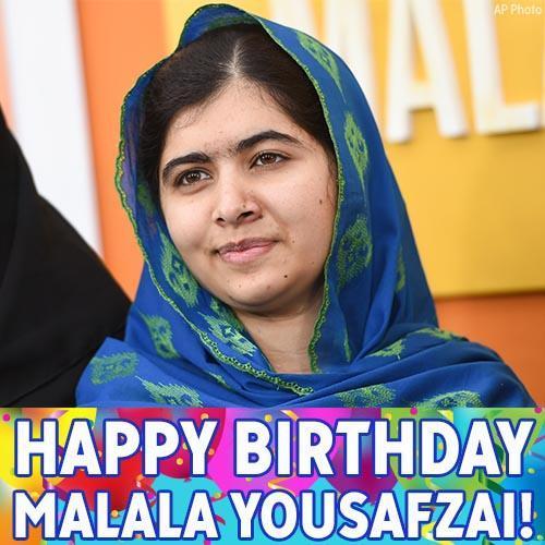 Happy birthday to the inspirational girls\ education activist Malala Yousafzai!