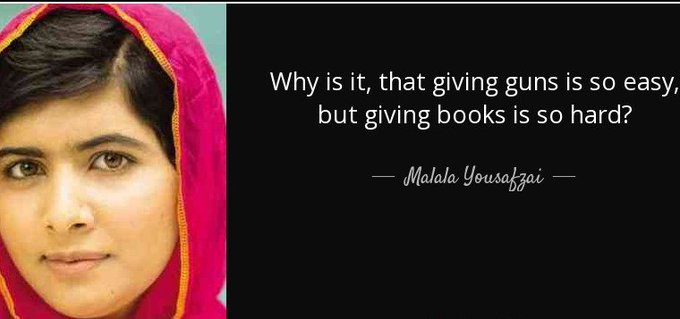 Happy birthday to Nobel Peace Prize winner and author, Malala Yousafzai.