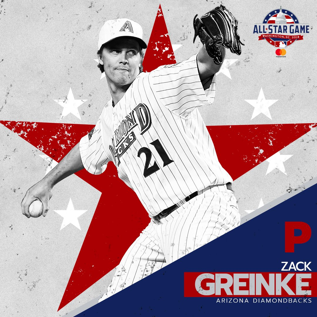 Zack Greinke has been named to the NL All-Star team to replace Jon Lester (pitching Sunday). https://t.co/yBjKkTSKUb