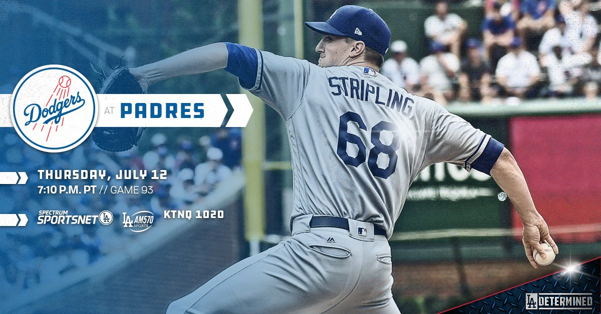 .@RossStripling gets the call tonight as the #Dodgers seek a series win.  ��: https://t.co/FcnysMl4X7 https://t.co/831IVM1BJ0