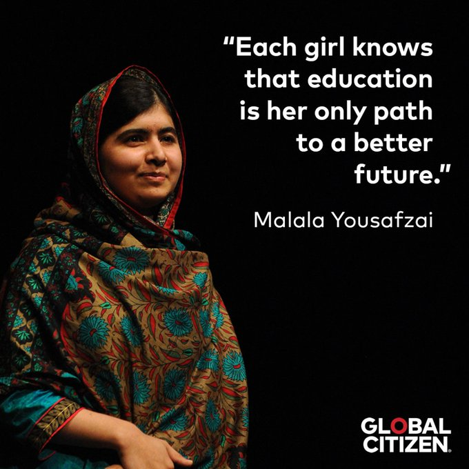 Wishing a very happy 21st birthday to education activist and Nobel Peace Prize winner Yousafzai!