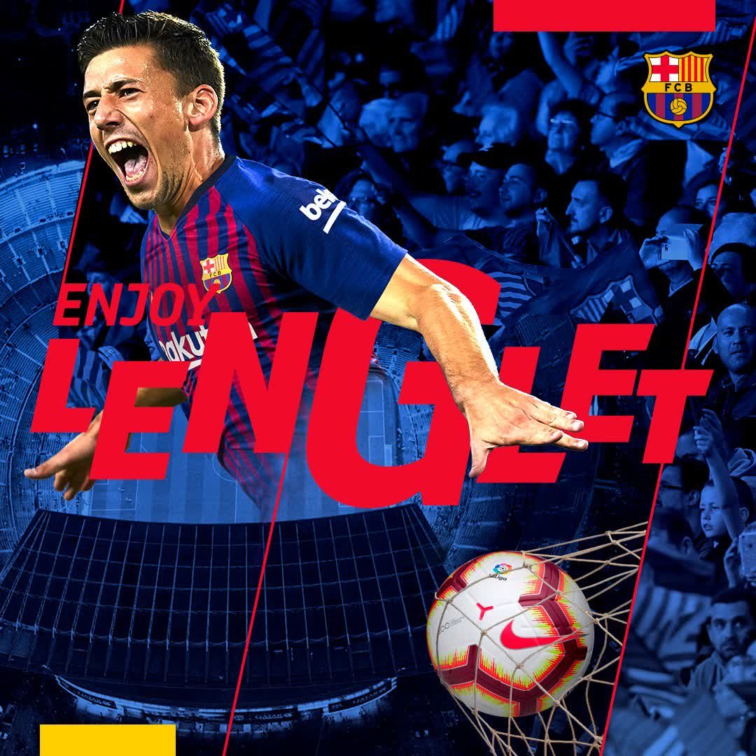 �� Bienvenue @clement_lenglet! ���� Welcome to Barça! ⚽️ #EnjoyLenglet �� #EnjoyBarça https://t.co/NS0IFa7KwJ
