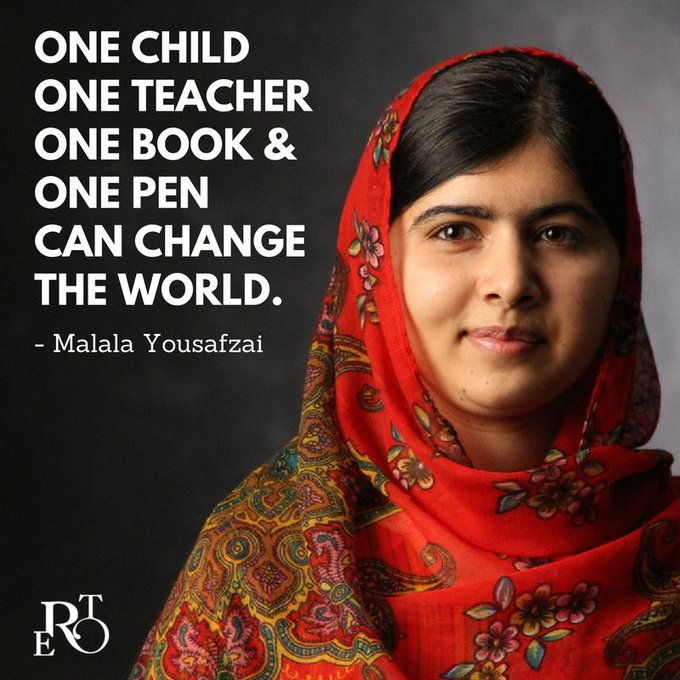 Happy 21st Birthday to Malala Yousafzai - an incredible advocate for