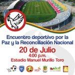 Por la paz y la reconciliación. Te esperamos. #FútbolEnPaz. ⚽️🕊 https://t.co/3dg7cISHCh