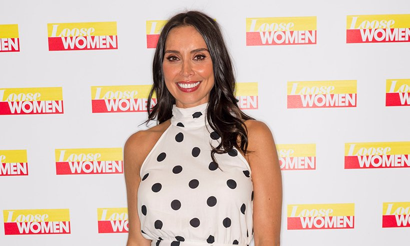 Pregnanct @clbleakley wore a gorgeous polka dot dress on Loose Women - all the details here:
