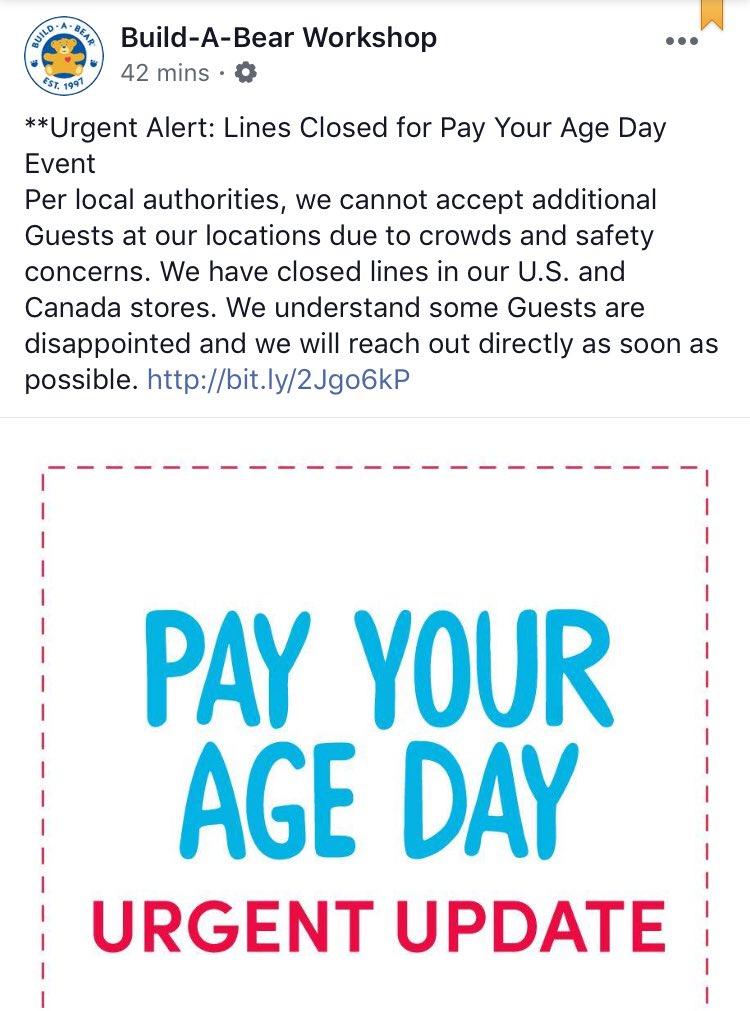 #PayYourAgeDay