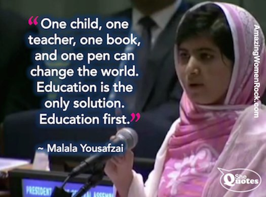 Happy Birthday to Malala Yousafzai!!