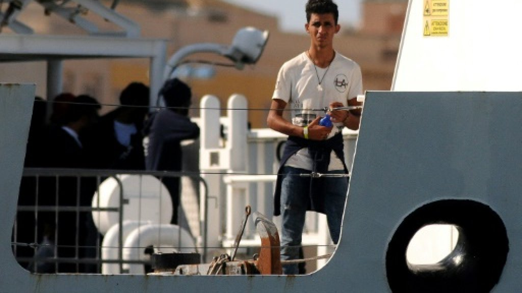 Italy's Salvini refuses to let migrants on coastguard ship disembark
