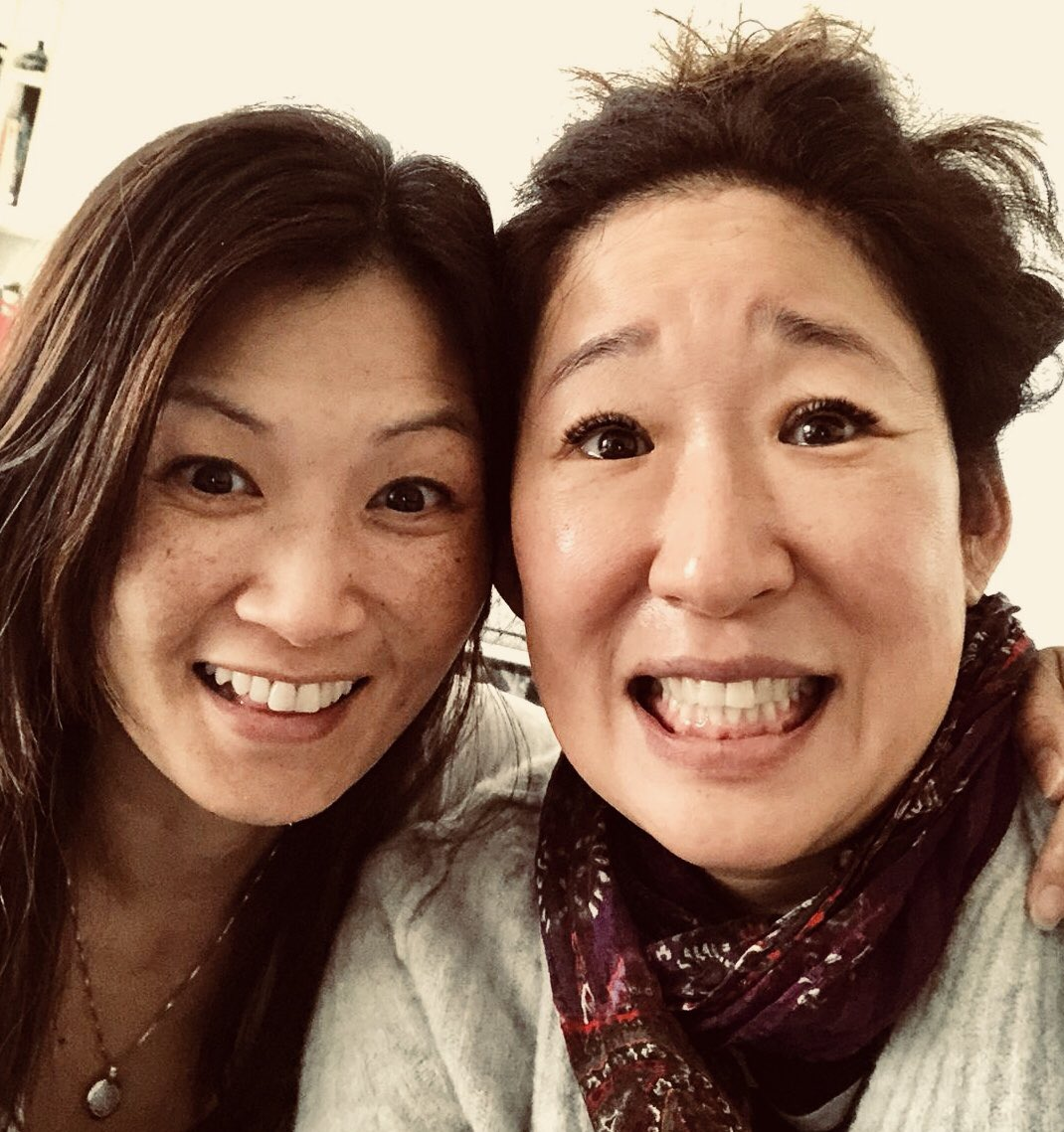 Omg wtf?? This is me hearing about Emmy nom w/ fellow sister @michellekrusiec - my expression is kinda ..what? https://t.co/1Mwlj2FETc