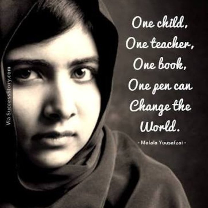 Happy birthday Malala Yousafzai..