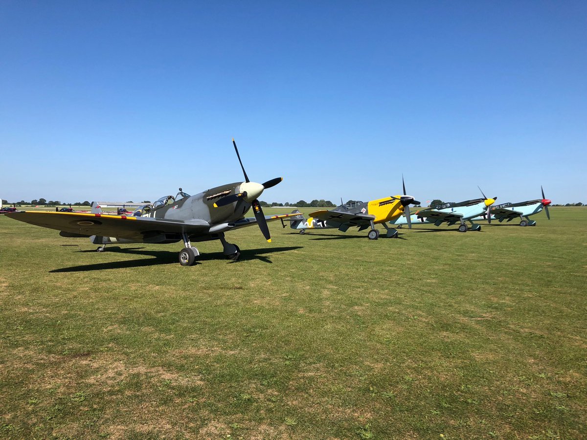 test Twitter Media - ML407 holding the fort - just! Though 3 to 1 was often the odds for Spitfire / ME109. Now imagine a day out - two mates - 1 in ML407 other in our 2 seat Buchon/ME109 flanked by a Spitfire V and a Buchon/ME109 four engines what a sound what a sight! https://t.co/7nf89wmzr2
