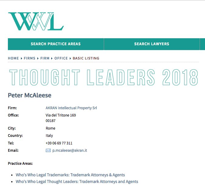 test Twitter Media - We're delighted that our Peter McAleese has been mentioned in 2018 ranking @whoswholegal as THOUGHT LEADER 2018 https://t.co/LLgU8KBGy1 https://t.co/TzVxKUiPS1