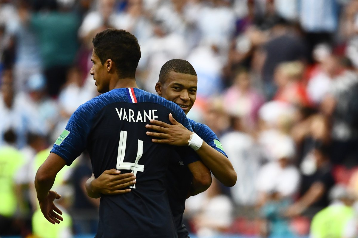 Image result for varane and mbappe