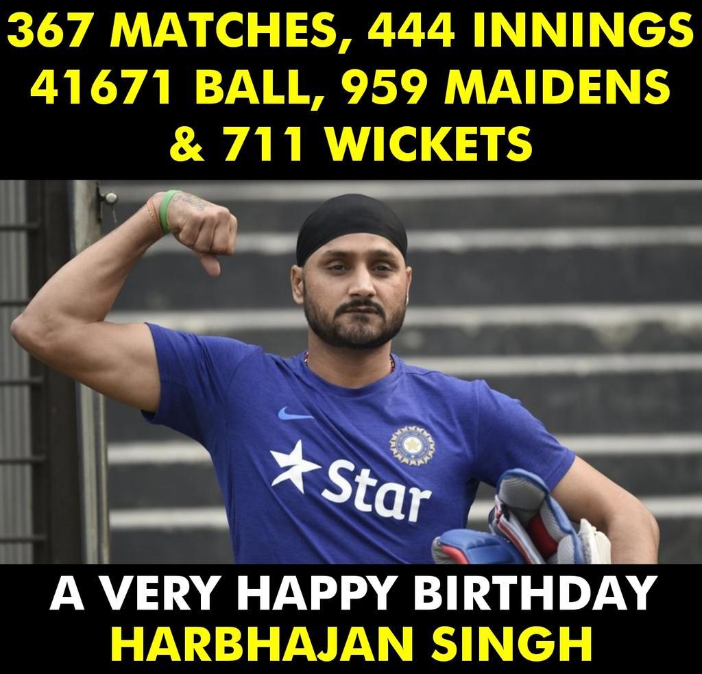 A very Happy Birthday Harbhajan Singh!