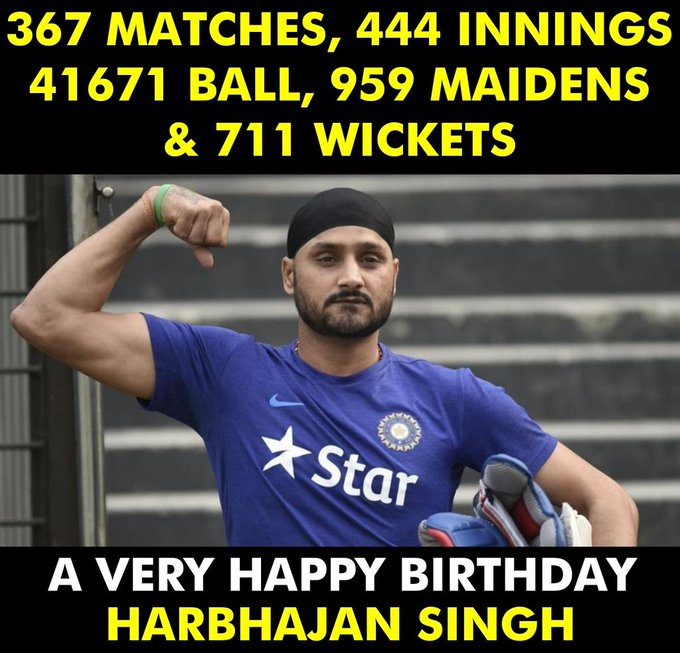 A very Happy Birthday Harbhajan Singh!