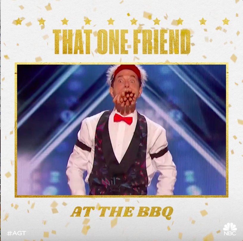 RT @AGT: Ain't no shame in your game. #AGT ???? https://t.co/tfhDW0pAvR