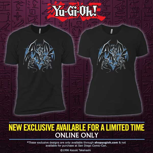For a limited time get this exclusive San Diego 2018 t-shirt at https://t.co/1Z4J2tGrUo! #yugioh https://t.co/Ez5lMWXRzJ