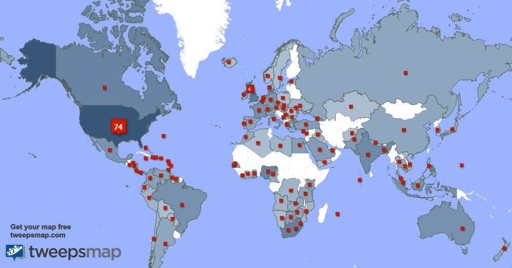 Special thank you to my 15 new followers from Venezuela, and more last week. GCleYnYflL