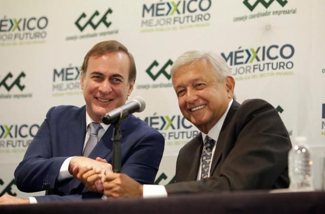 Mexico's business bosses praise Lopez Obrador after testy campaign