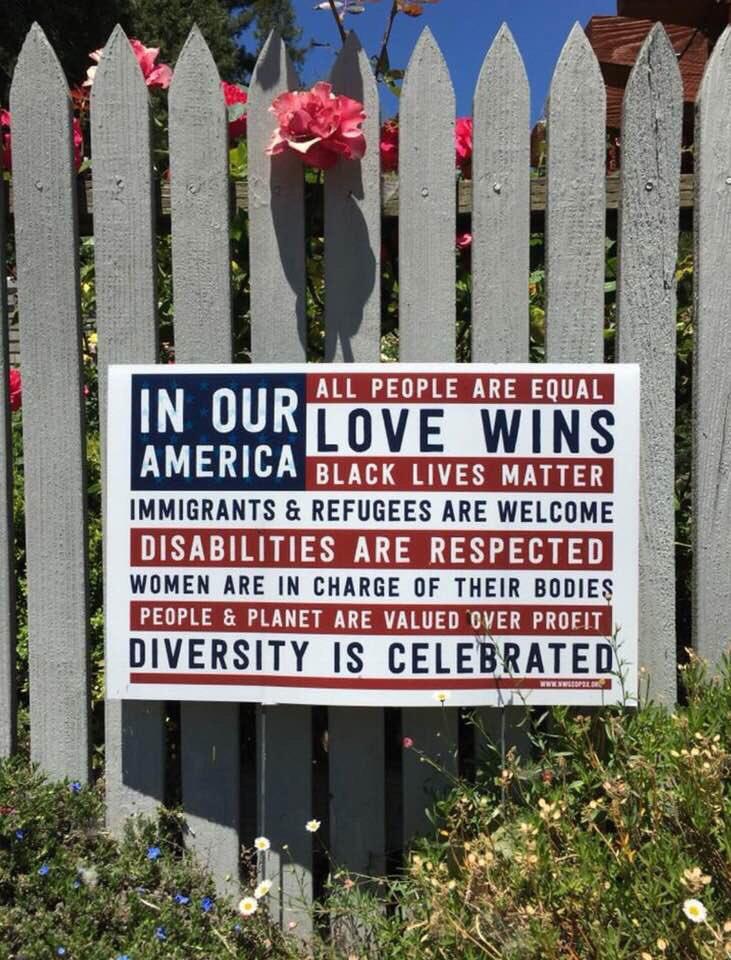 Signs popping up around SD. VKTEM1tlia =] #InOurAmerica gPNiGeEDTs