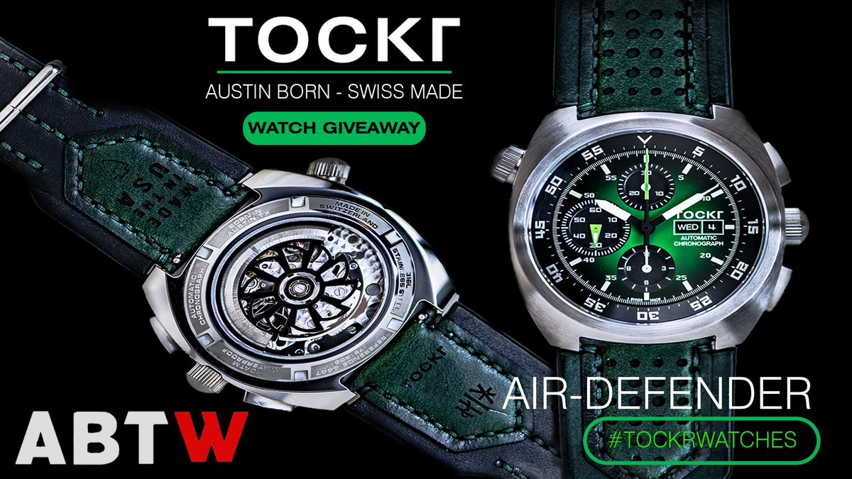 test Twitter Media - WATCH GIVEAWAY: Tockr Air Defender Chronograph Watch | aBlogtoWatch https://t.co/TtLFb4rzGv #timetowinwe Ends when July does https://t.co/Y6lho4zF4p