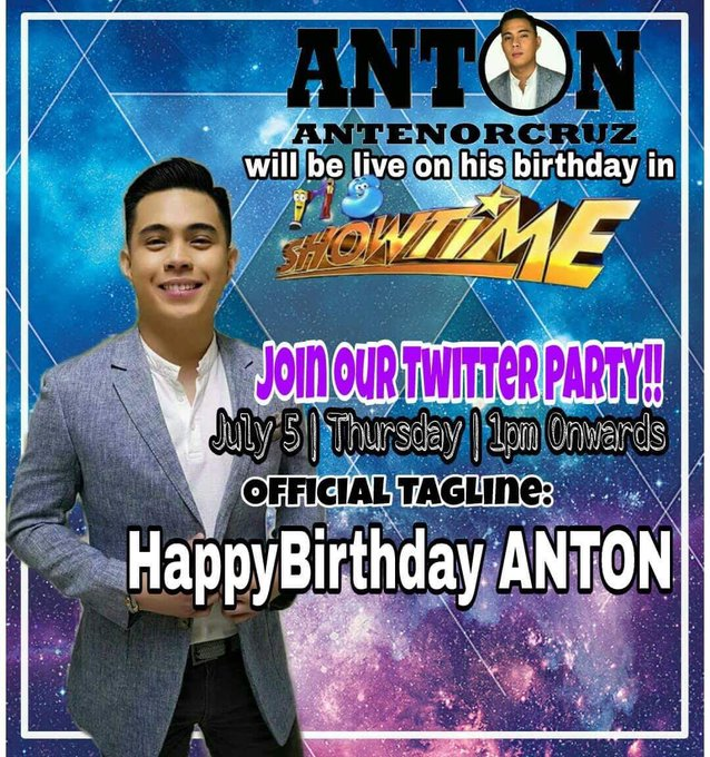 Happy birthday to our BALLAD PRINCE ANTON! We love you!  HappyBirthday ANTON