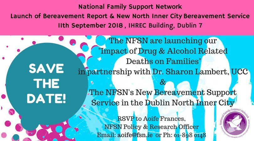 test Twitter Media - The National Family Support Network are launching their Bereavement Report and new North Inner City Bereavement Service on September 11th 2018 in the IHREC Building in Dublin 7 https://t.co/9OFlbDYoY6