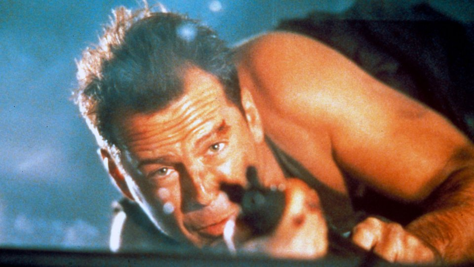 The cast of DieHard, then and now
