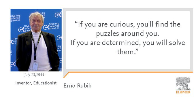 Happy Birthday to Erno Rubik who is known for inventing the