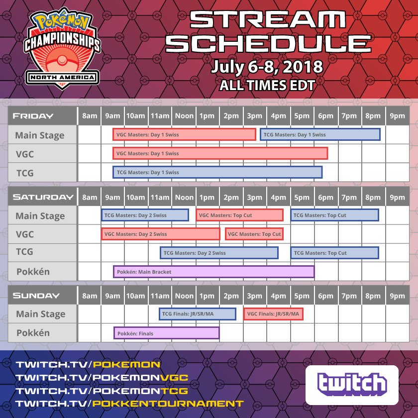 tweet-TPCi is currently streaming the North America International Championships! Be sure to tune in!All: https://t.co/MF3hlNQelwTCG: https://t.co/FCbiI4GKhWVGC: https://t.co/P6jnEYAPXGPokken: https://t.co/Dto0orCTNF https://t.co/qVpploVa31